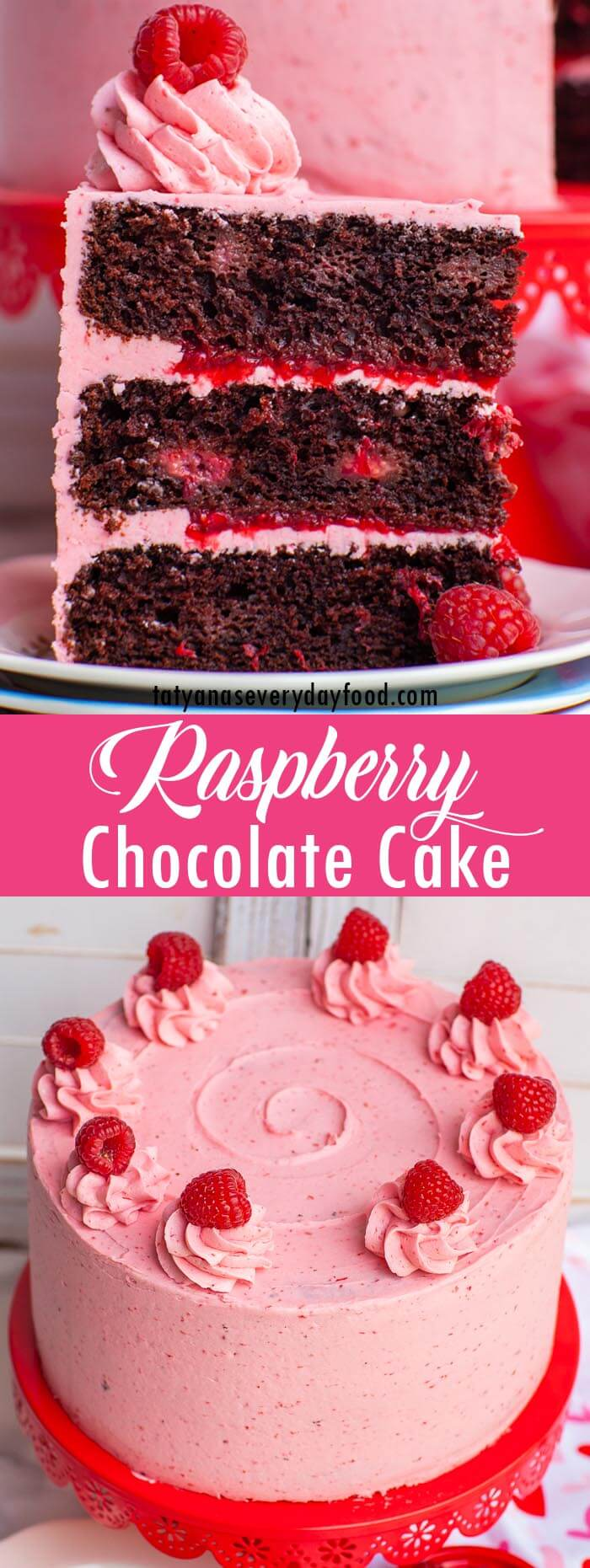 Chocolate Raspberry Cake video recipe