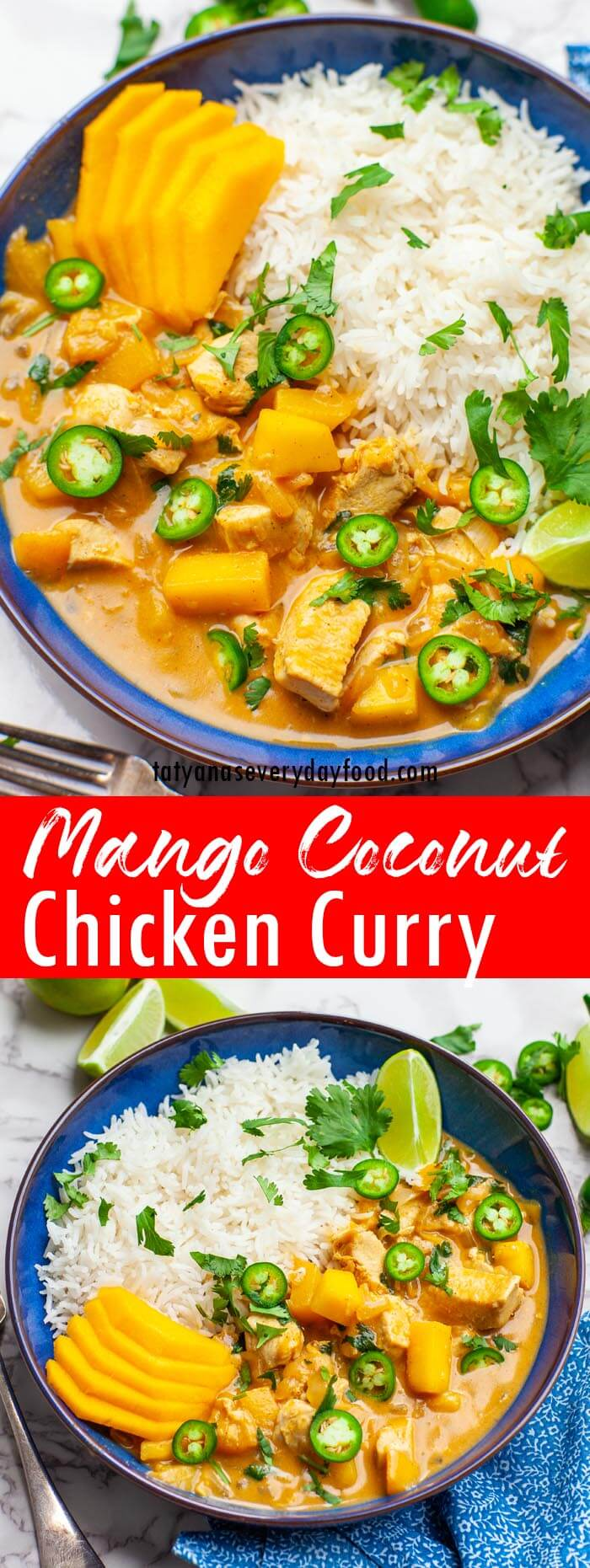 Coconut Mango Chicken Curry video recipe