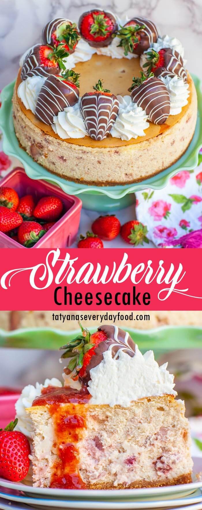 The Best Strawberry Cheesecake video recipe