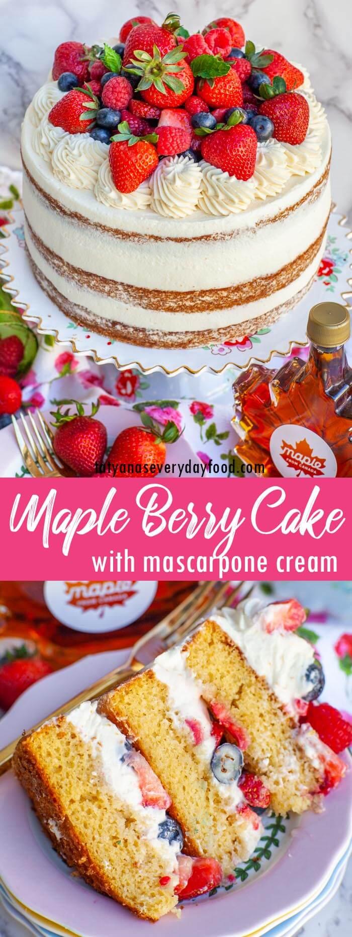 Maple Berry Cake video recipe