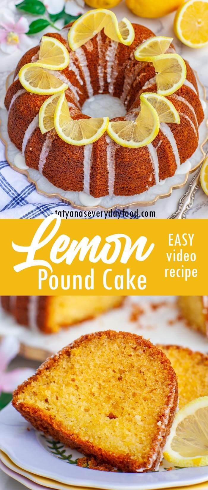 Easy Lemon Pound Cake video recipe