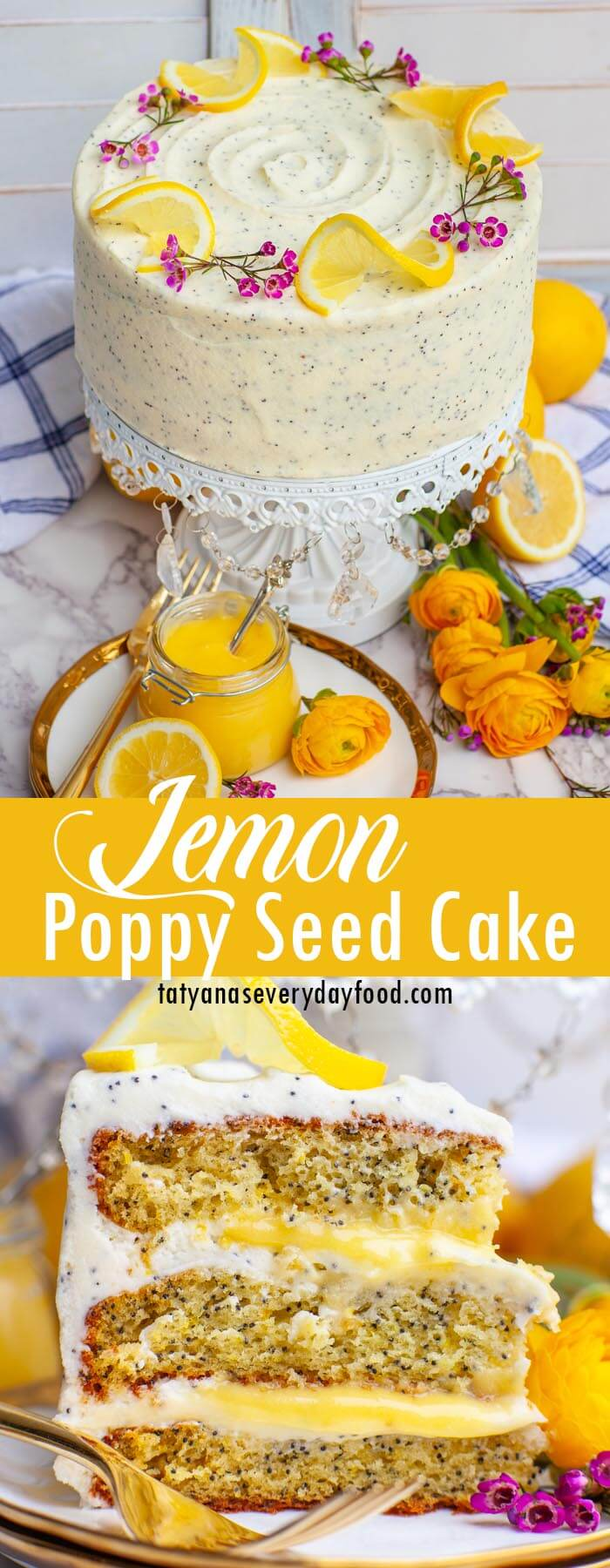 Lemon Poppy Seed Cake video recipe