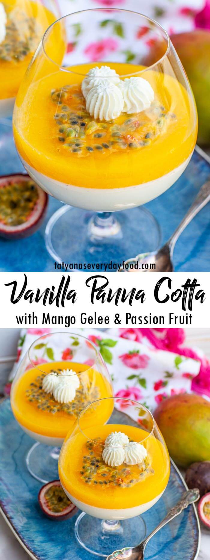 Vanilla Panna Cotta with Mango Gelee and Passion Fruit video recipe