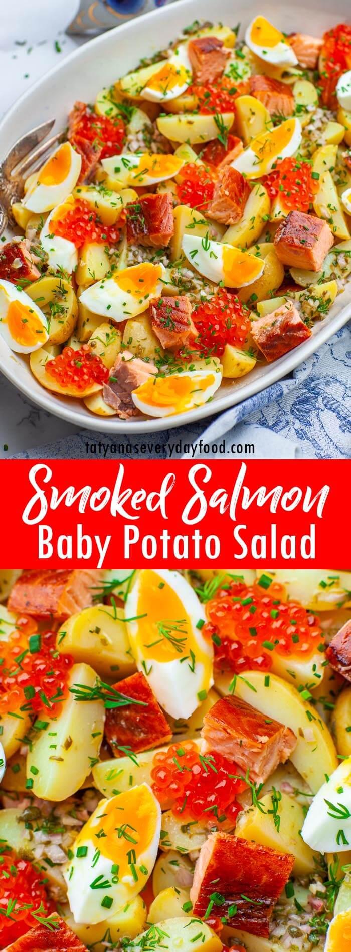 Video recipe for smoked salmon salad