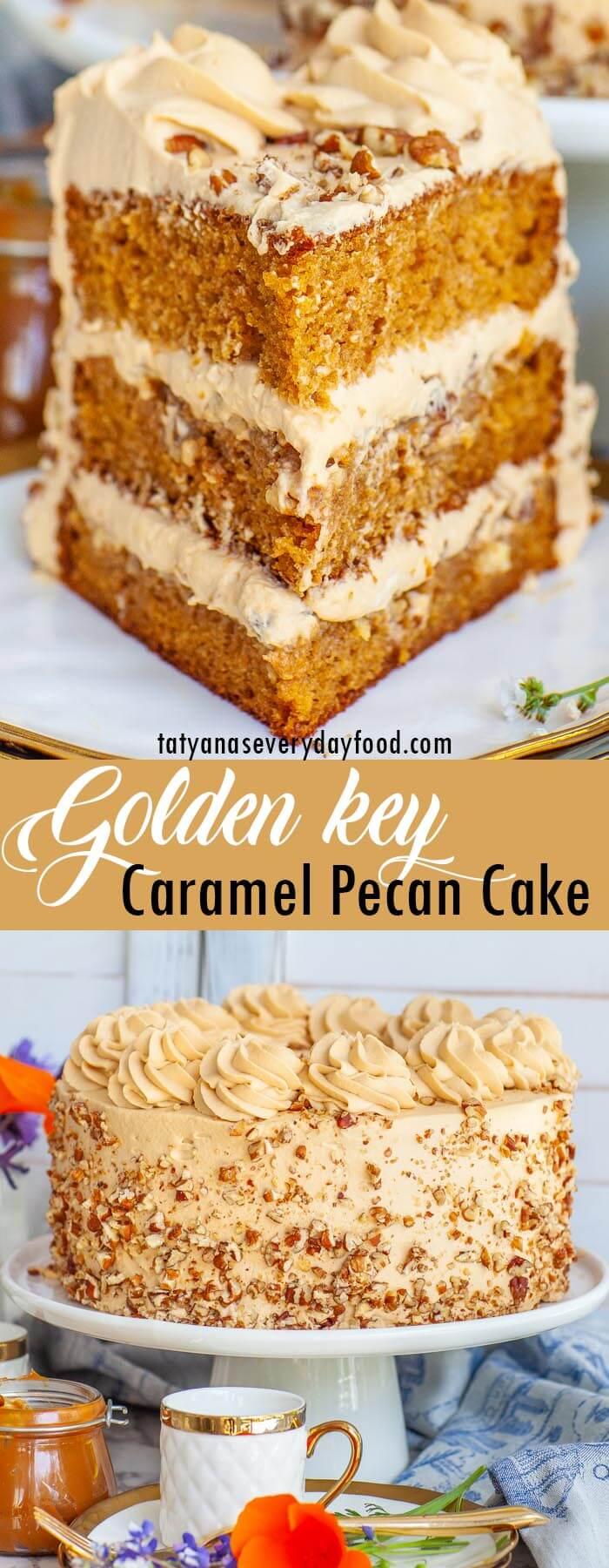 Golden Key Caramel Cake video recipe