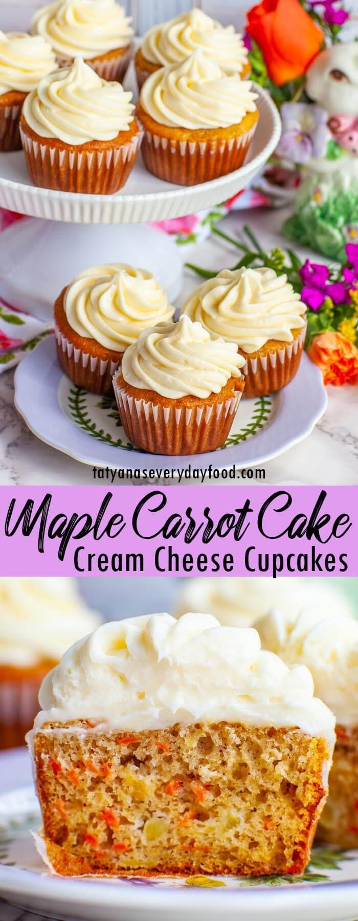 Maple Carrot Cake Cupcakes video recipe