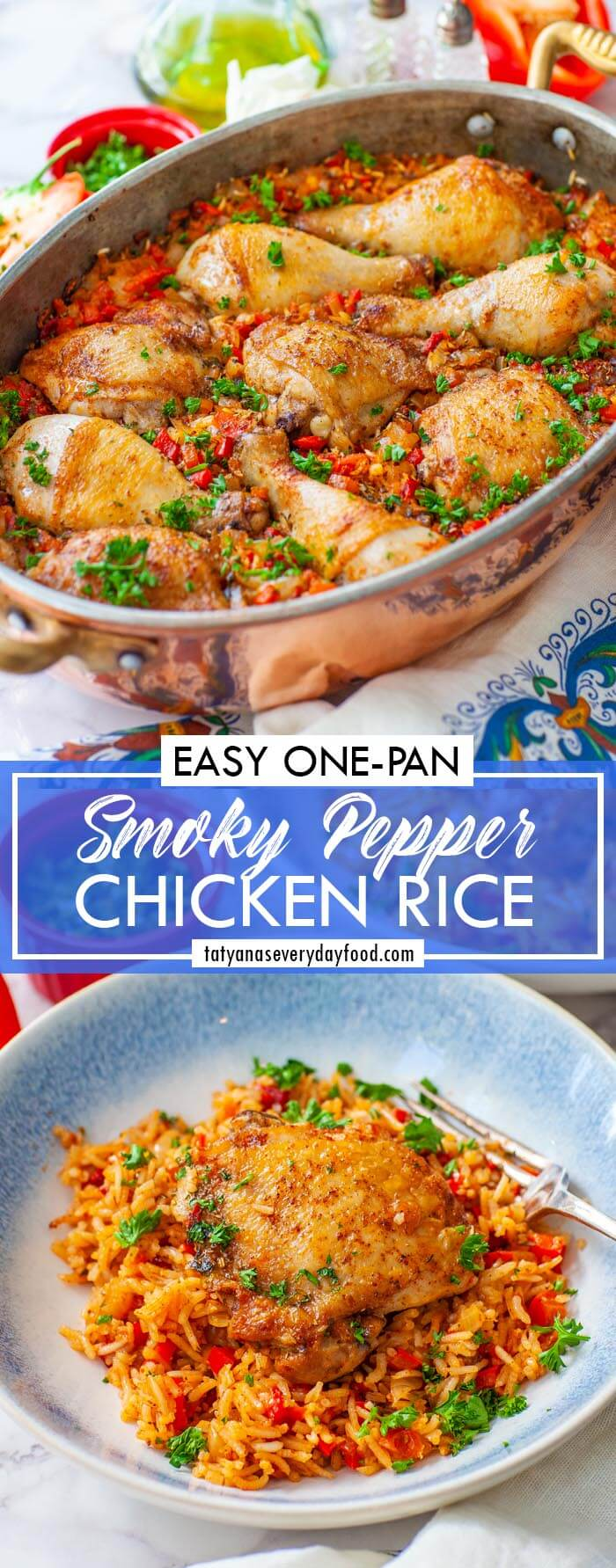 One-Pot Pepper & Chicken Rice video recipe