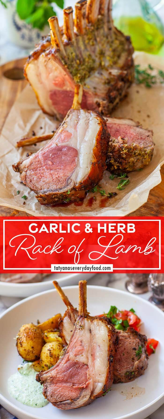 Garlic & Herb Roasted Rack of Lamb video recipe