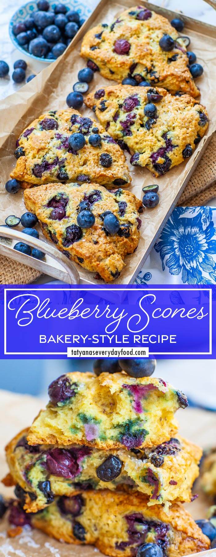 The Best Bakery-Style Blueberry Scones video recipe