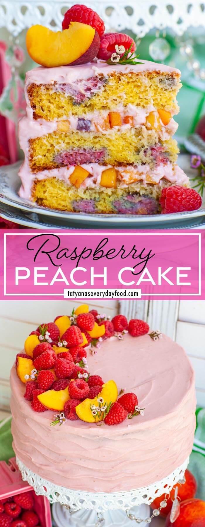 Raspberry Peach Cake Recipe video recipe
