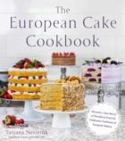 cover of a cookbook, with text overlay 'The European Cake Cookbook'