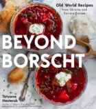 cover of a cookbook, with text overlay 'Beyond Borscht'