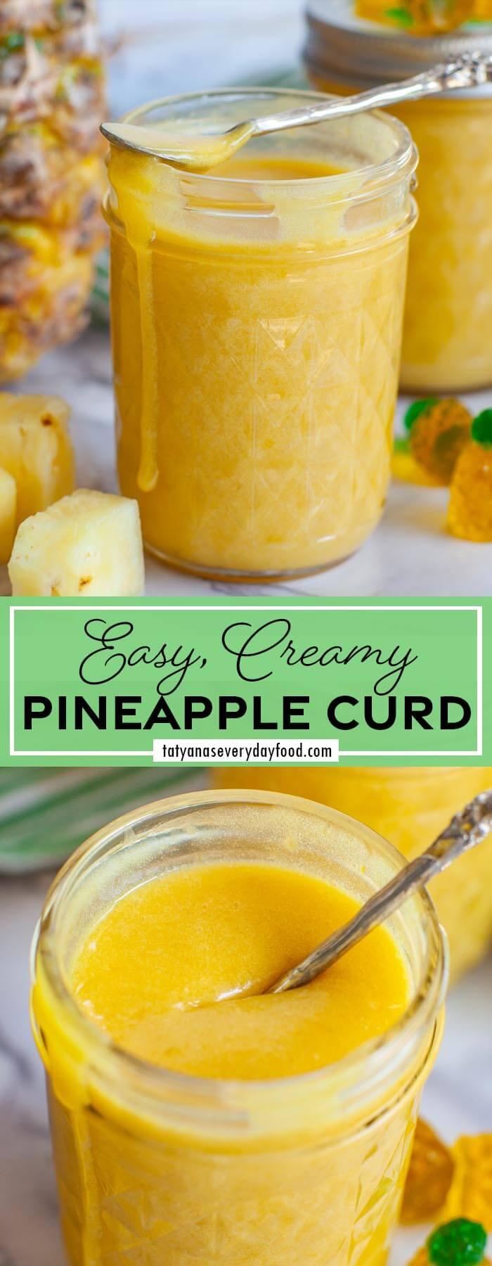 The Best Pineapple Curd video recipe board